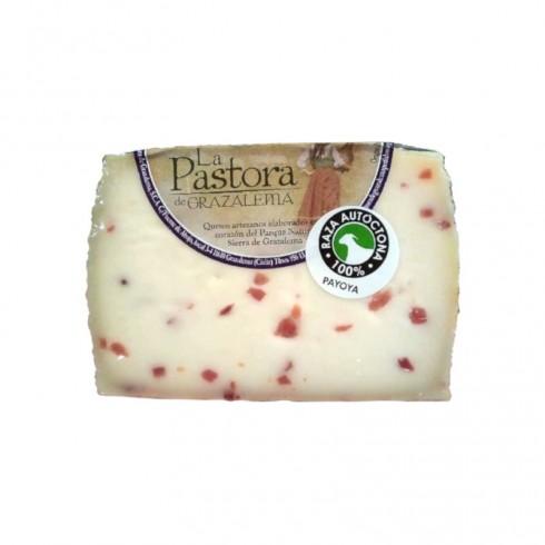 Queso de cabra madurado con jamón La Pastora de Grazalema