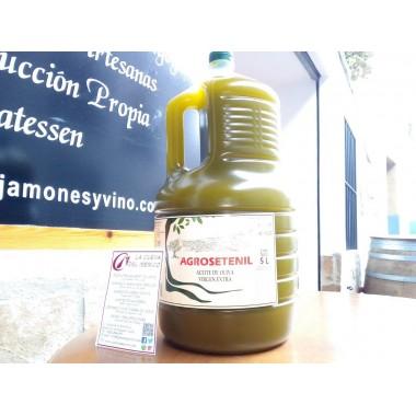 Aceite de oliva virgen extra AgroSetenil 5 litros sin filtrar