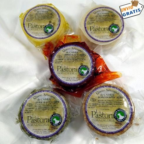 Lote de quesos de cabra madurados La Pastora